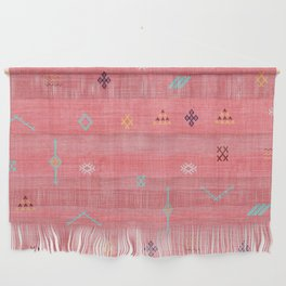 Cactus Silk Pattern in Pink Wall Hanging