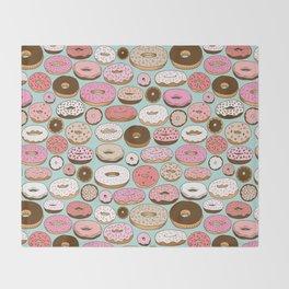 Donut Wonderland Throw Blanket