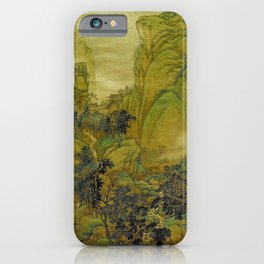 The Beauty of Green Mountains and Rivers Wang Hui iPhone Case