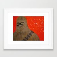 chewbacca Framed Art Prints featuring chewbacca by bdevine