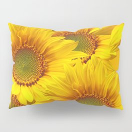 Yellow Mellow Sunflower Bouquet #decor #society6 #buyart Pillow Sham