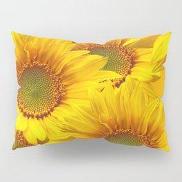 Yellow Mellow Sunflower Bouquet #decor #society6 #buyart Pillow Sham