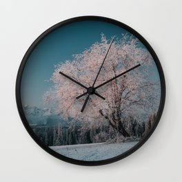 First light - Landscape and Nature Photography Wall Clock
