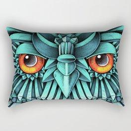 Crystal Owl Blue Rectangular Pillow