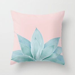 Blush Agave #2 #tropical #decor #art #society6 Throw Pillow
