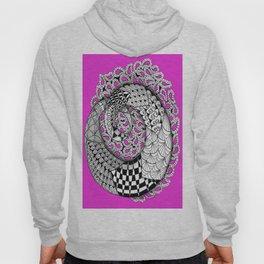 Zentangle Mobius Pink Hoody