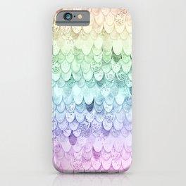MAGIC MERMAID - PASTEL RAINBOW iPhone Case