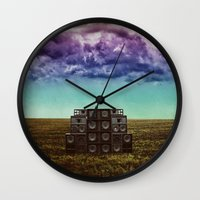 sonic Wall Clocks featuring Sonic Field by Liall Linz