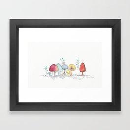 Kodama Mushroom Forest Framed Art Print