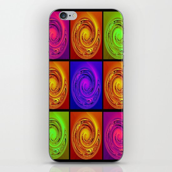 Abstract Collage Art iPhone Skin
