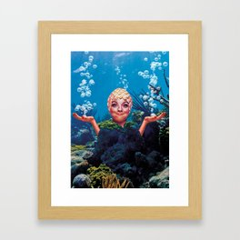 The ocean floor Framed Art Print