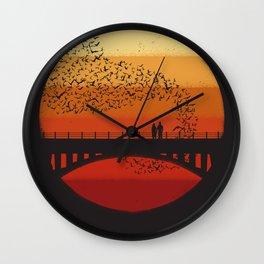 Into the Setting Sun Wall Clock