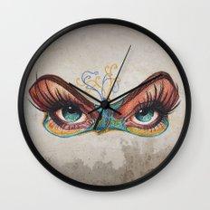 Butterflies eyes Wall Clock