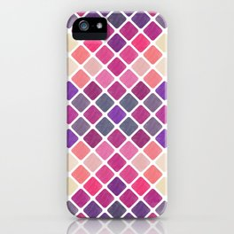 Watercolor Geometric Pattern III iPhone Case