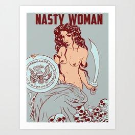 Nasty Woman print, pale Art Print
