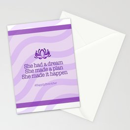 Dream, Plan and Make it Happen Stationery Cards
