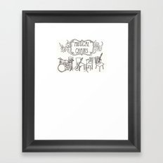 Musical Chairs Framed Art Print
