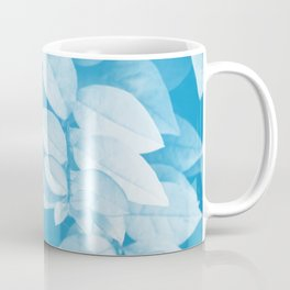 Leaves in Blue Coffee Mug