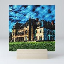 Ochre Court Châteauesque Mansion Painting - Newport, RI Mansions - Jéanpaul Ferro Mini Art Print