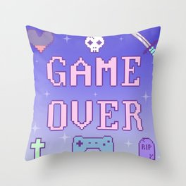 Game Over (pastel) Throw Pillow