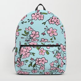 Pretty Pink Japanese Cherry Blossom Print Backpack