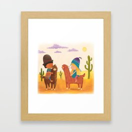 Friends in Mexico Framed Art Print