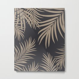 Palm Leaves Pattern Sepia Vibes #2 #tropical #decor #art #society6 Metal Print