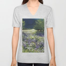 Fields of White and Purple Unisex V-Neck