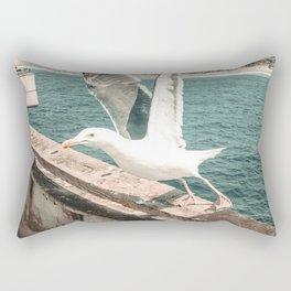 Seagull Taking Flight // California West Coast Pier Vibes Beach Ocean Surf City USA Rectangular Pillow