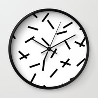 confetti Wall Clocks featuring Confetti by Caitlin Workman