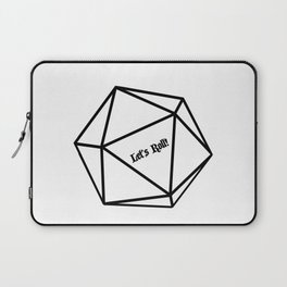 Let's Roll! D20 Laptop Sleeve