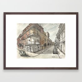 Italy Sketchbook Framed Art Print