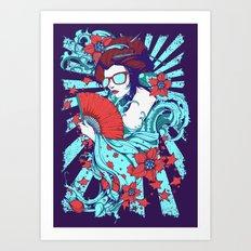 Retro Diva Art Print