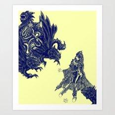 Fright Night [Digital Fantasy Illustration] 3 Art Print