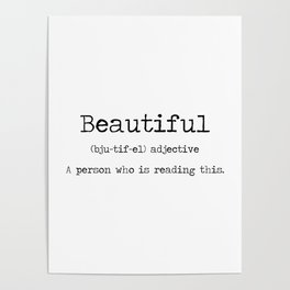 Beautiful -a definition of you. Poster