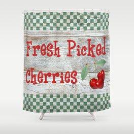 Fresh Picked Cherries Shower Curtain