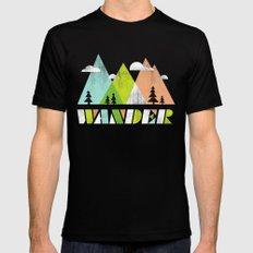 Wander  Black Mens Fitted Tee MEDIUM