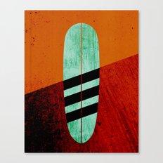 Mint Longboard Canvas Print