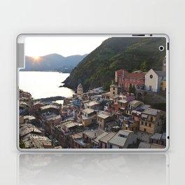 Sunset over Vernazza, Italy Laptop & iPad Skin