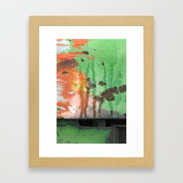 Deere in Rain Framed Art Print