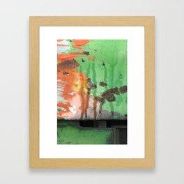 Deere in Rain Framed Art Print