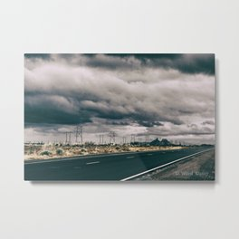 A Lonely Highway in NM Metal Print