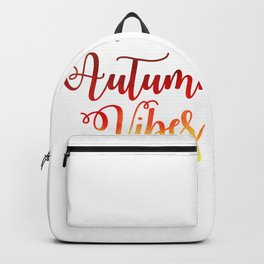 Autumn Vibes Watercolor Backpack