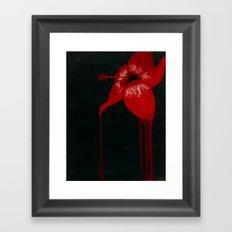 hibiscus bloom Framed Art Print