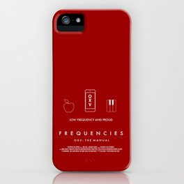 FREQUENCIES LOW FREQUENCY (ZAK - RED) CHARACTER POSTER iPhone Case