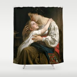 """William-Adolphe Bouguereau """"Getting Up (Le Lever)"""" Shower Curtain"""