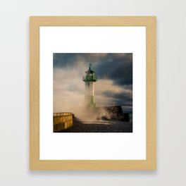 Breaking wave - Winter Baltic Sea Serie Framed Art Print