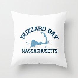 Buzzards Bay. Cape Cod Throw Pillow