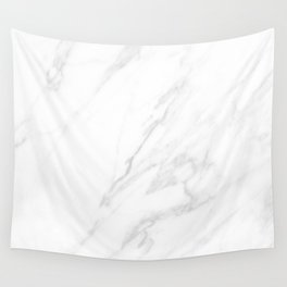 Classic White Marble Wall Tapestry