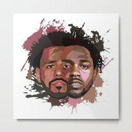 Kendrick Lamar J cole Portrait Metal Print